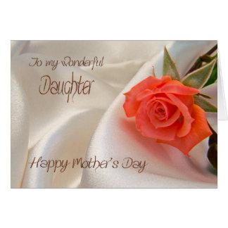 Hija, una tarjeta del día de madre con un color de