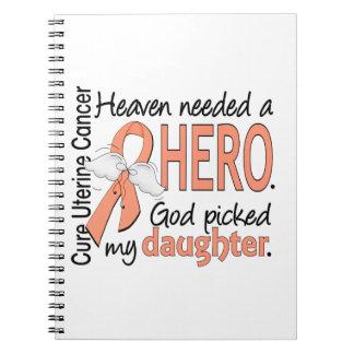 Hija uterina del cáncer del héroe necesario del libros de apuntes con espiral