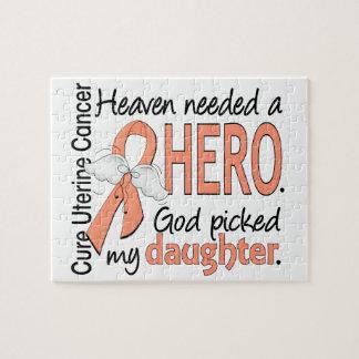 Hija uterina del cáncer del héroe necesario del puzzle con fotos