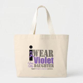 Hija violeta de la cinta - el linfoma de Hodgkin Bolsa De Mano