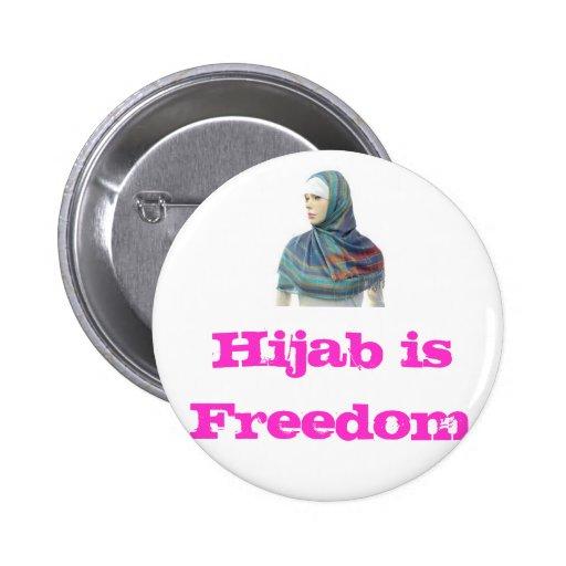 Hijab is Freedom Pinback Button