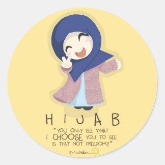 Hijab is Freedom Classic Round Sticker