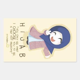 Hijab is Freedom Rectangular Sticker
