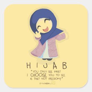 Hijab is Freedom Square Sticker