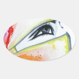 HIjab Oval Sticker