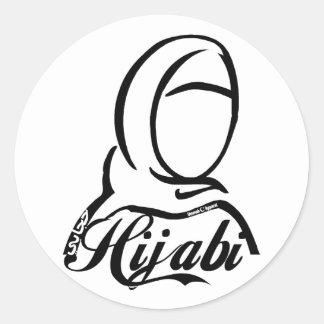 Hijabi Pegatina Redonda