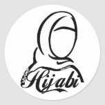 Hijabi Round Stickers