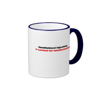 Hijacking constitucional taza de café
