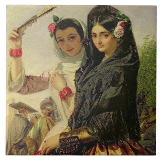 Hijas de Alhambra Azulejo Cuadrado Grande