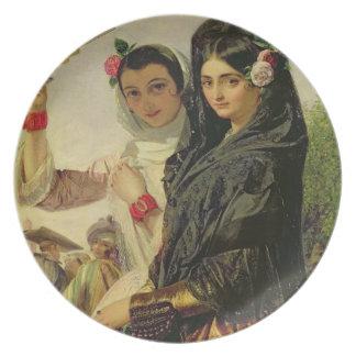 Hijas de Alhambra Plato Para Fiesta