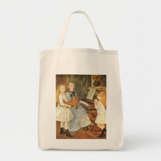 Hijas de Catulle Mendes; Renoir, arte del vintage Bolsa Tela Para La Compra