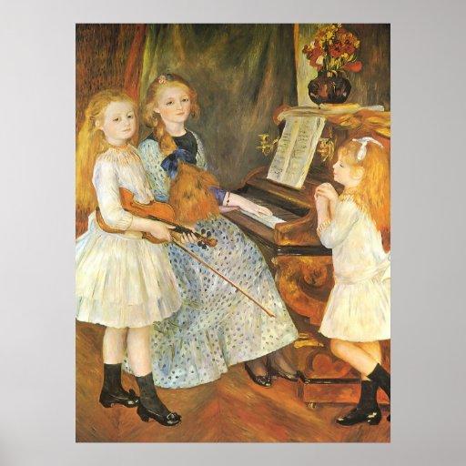 Hijas de Catulle Mendes; Renoir, arte del vintage Posters