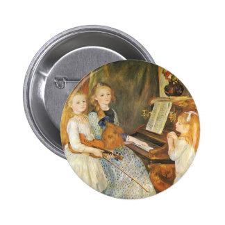 Hijas de Catulle Mendes; Renoir, arte del vintage Chapa Redonda 5 Cm