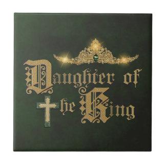 Hijas del rey azulejo cuadrado pequeño
