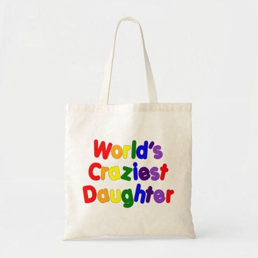 Hijas divertidas de la diversión: La hija más loca Bolsa Tela Barata