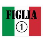 Hijas italianas: Uno de Figlia Numero Tarjetas Postales