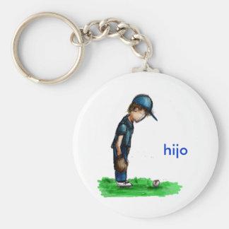 Hijo Basic Round Button Keychain
