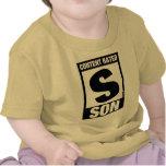 Hijo clasificado contento camisetas