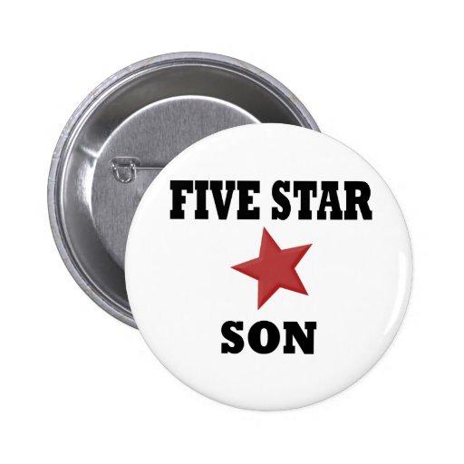HIJO de cinco estrellas Pin