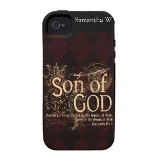 Hijo de dios, cristiano del 8:14 de los romanos iPhone 4 carcasas