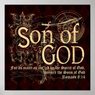 Hijo de dios, cristiano del 8:14 de los romanos posters