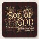 Hijo de dios, cristiano del 8:14 de los romanos posavasos de bebida