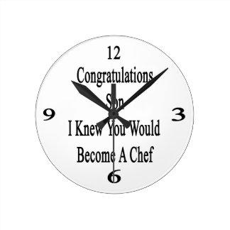 Hijo de la enhorabuena que conocía que usted hizo reloj redondo mediano