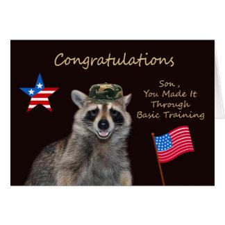 Hijo de la enhorabuena tarjeta de felicitación de
