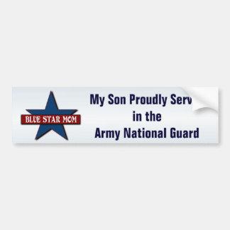 Hijo de la mamá de la estrella   azul en Guardia Pegatina Para Auto