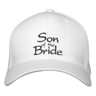 Hijo de la novia bordada casando el casquillo gorra de beisbol