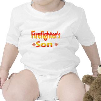 hijo de los bomberos traje de bebé