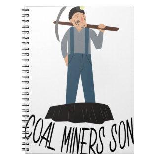 Hijo de los mineros de carbón libro de apuntes con espiral