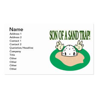 Hijo de una trampa de arena plantilla de tarjeta personal