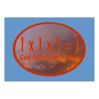 hijo del alcohol de 1 de x 1 de x 1 de = 1/dios de tarjetas de visita grandes