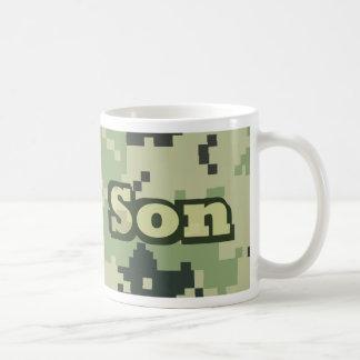 Hijo del ejército taza básica blanca