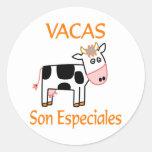 Hijo Especiales de Vacas Pegatina Redonda