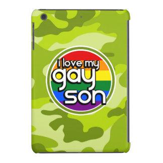 Hijo gay; camo verde claro, camuflaje funda de iPad mini