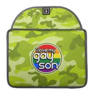 Hijo gay; camo verde claro, camuflaje funda macbook pro