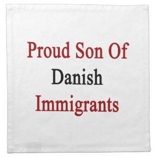 Hijo orgulloso de inmigrantes daneses servilletas