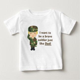 Hijo orgulloso de un ejército o de un papá militar polera
