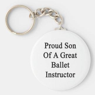 Hijo orgulloso de un gran instructor del ballet llavero redondo tipo pin