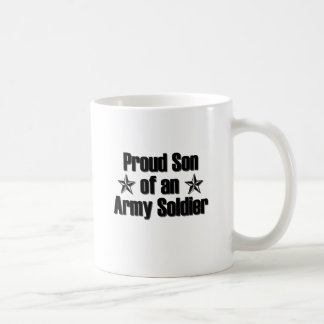Hijo orgulloso del ejército taza básica blanca