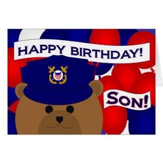 ¡Hijo - soldado de la guardia de la costa del Tarjeta De Felicitación