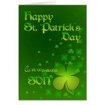 Hijo, tarjeta del día de St Patrick feliz