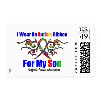 Hijo tribal de la cinta del autismo