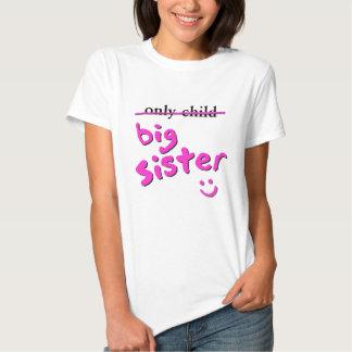 Hijo único/hermana grande camisas