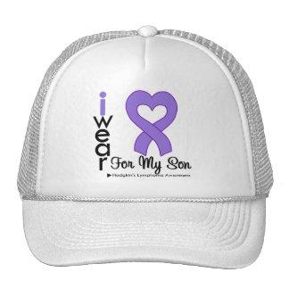 Hijo violeta de la ayuda del corazón del linfoma d gorros