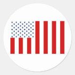 Hijos civiles de la bandera de Estados Unidos de Etiqueta Redonda