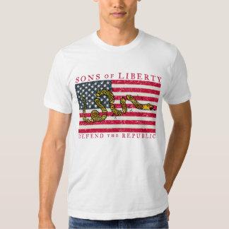 Hijos de la camiseta de la libertad playera