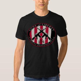 Hijos de la camiseta de la respuesta de la tiranía remeras
